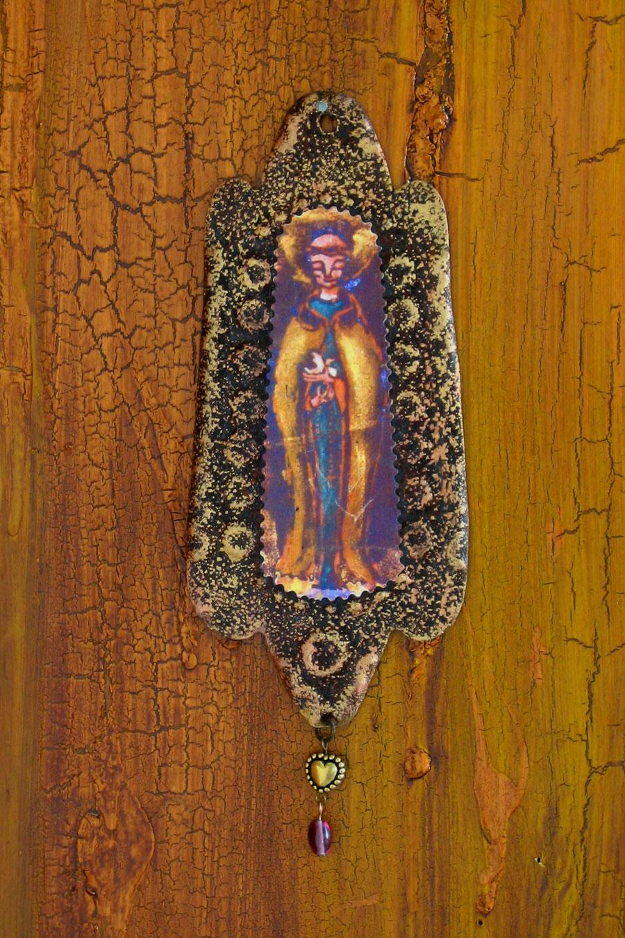 Saint Francis Rusty Retablo Ornament