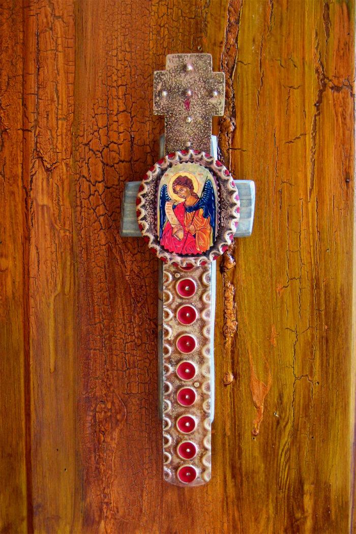 San Miguel Barn Wood Cross