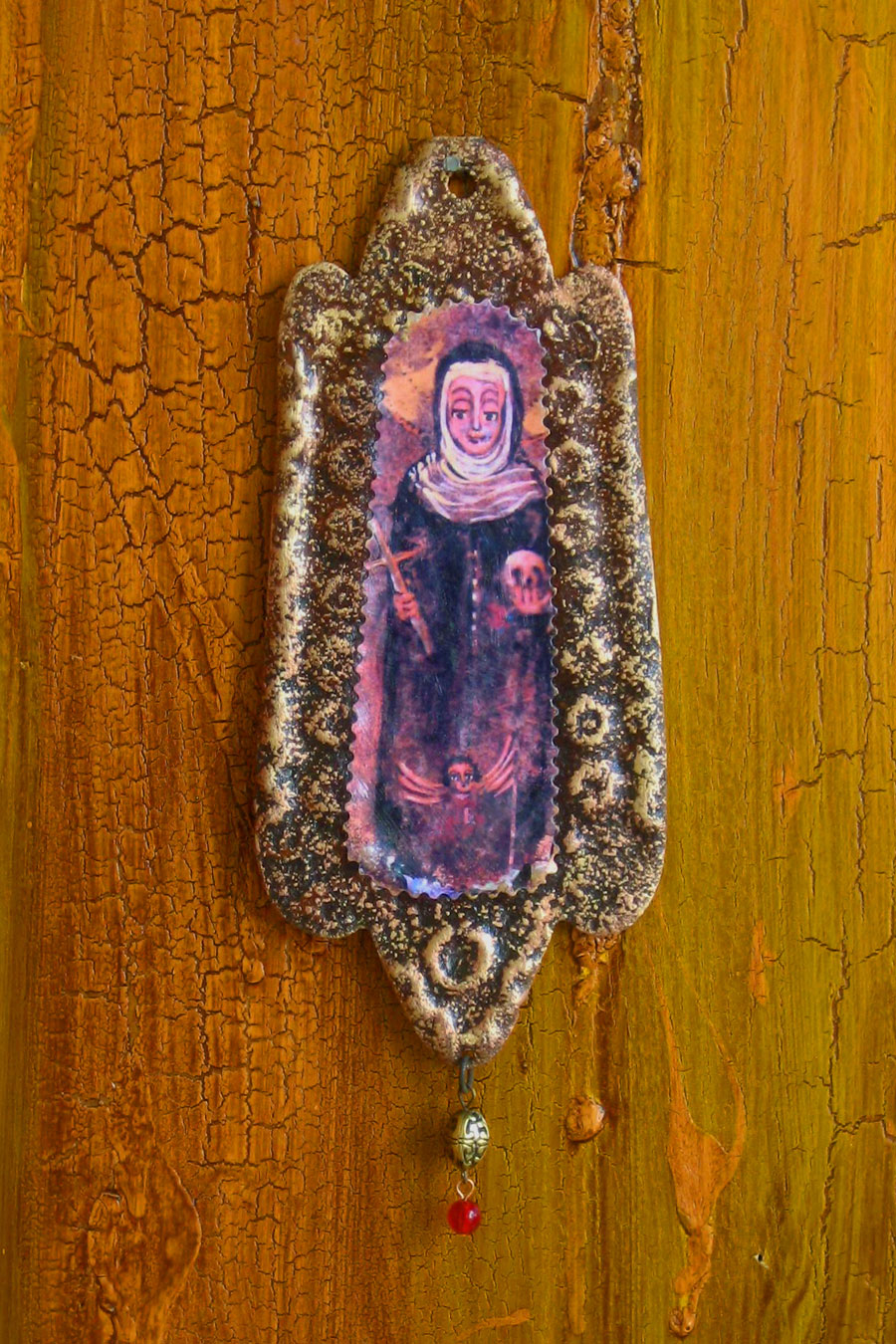 Santa Rita Rusty Retablo Ornament