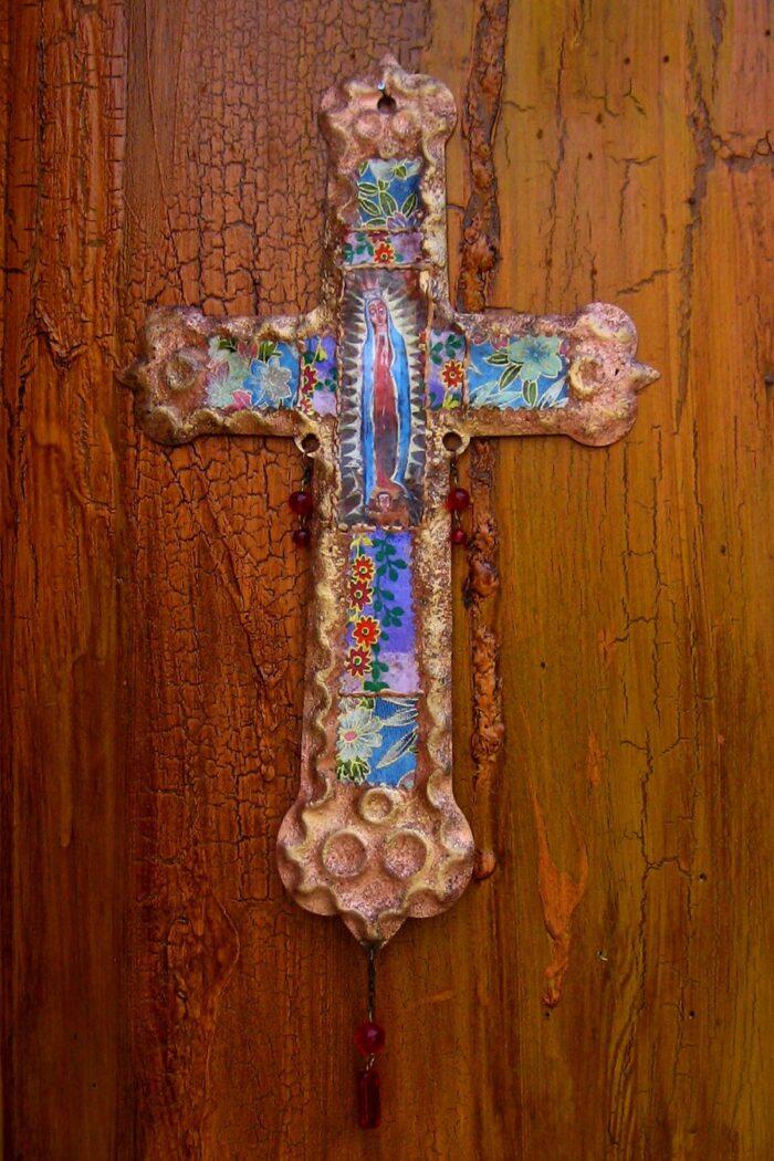 Guadalupe Retablo Cross