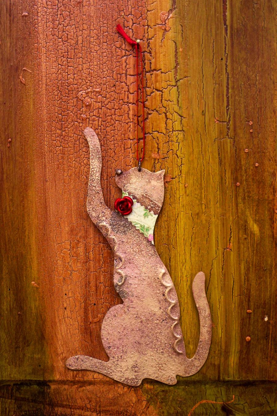 Batting Cat Ornament