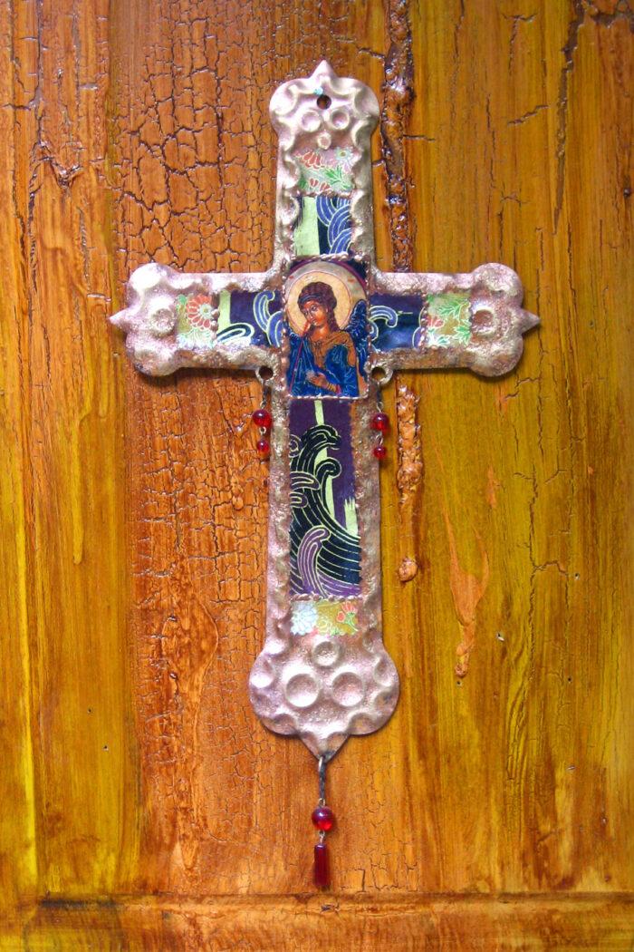 San Raphael Retablo Cross