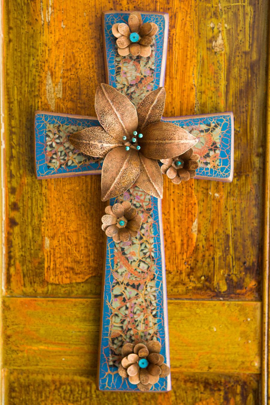 Square Bottom Multi Flower Cross