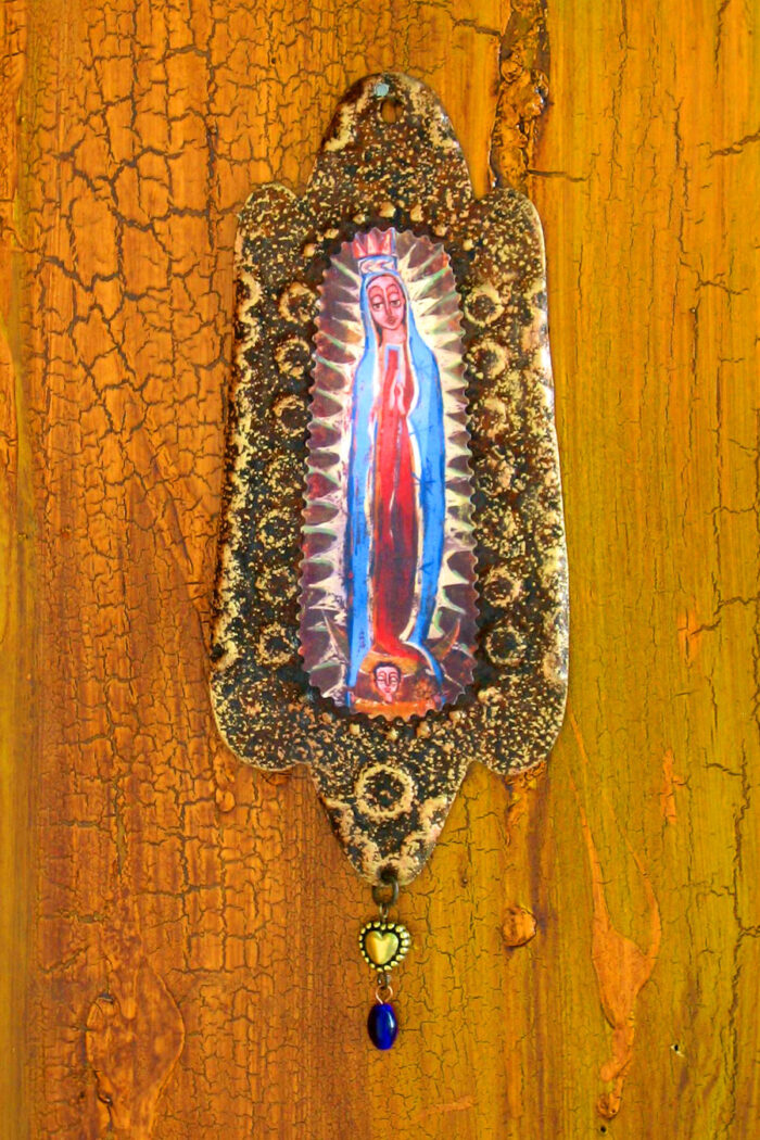 Guadalupe Rusty Retablo Ornament