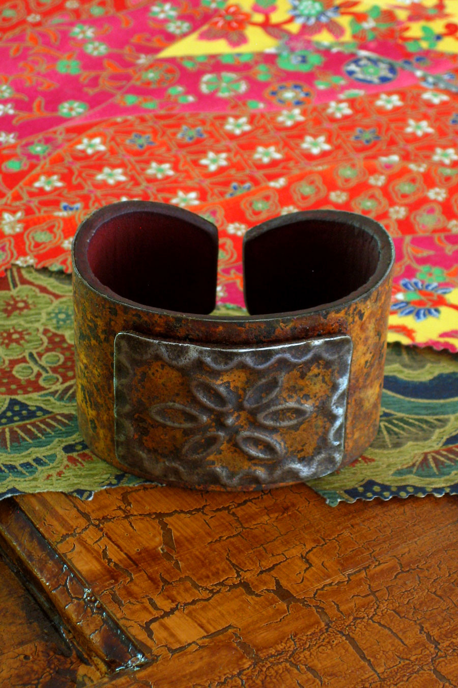 Square Medallion Ranch Style Cuff